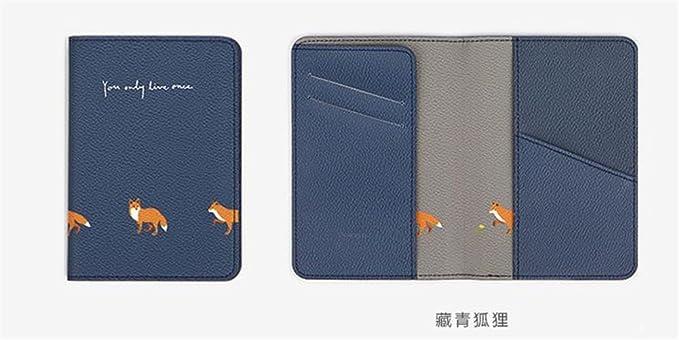 Bleu YUE-Porte-Passeport Sac de protection de passeport Style Populaire Couverture Etui de Passeport