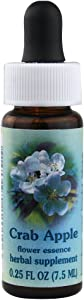 Flower Essence Services Healing Herb Supplement Dropper, Crab Apple, 0.25 Fluid Ounce