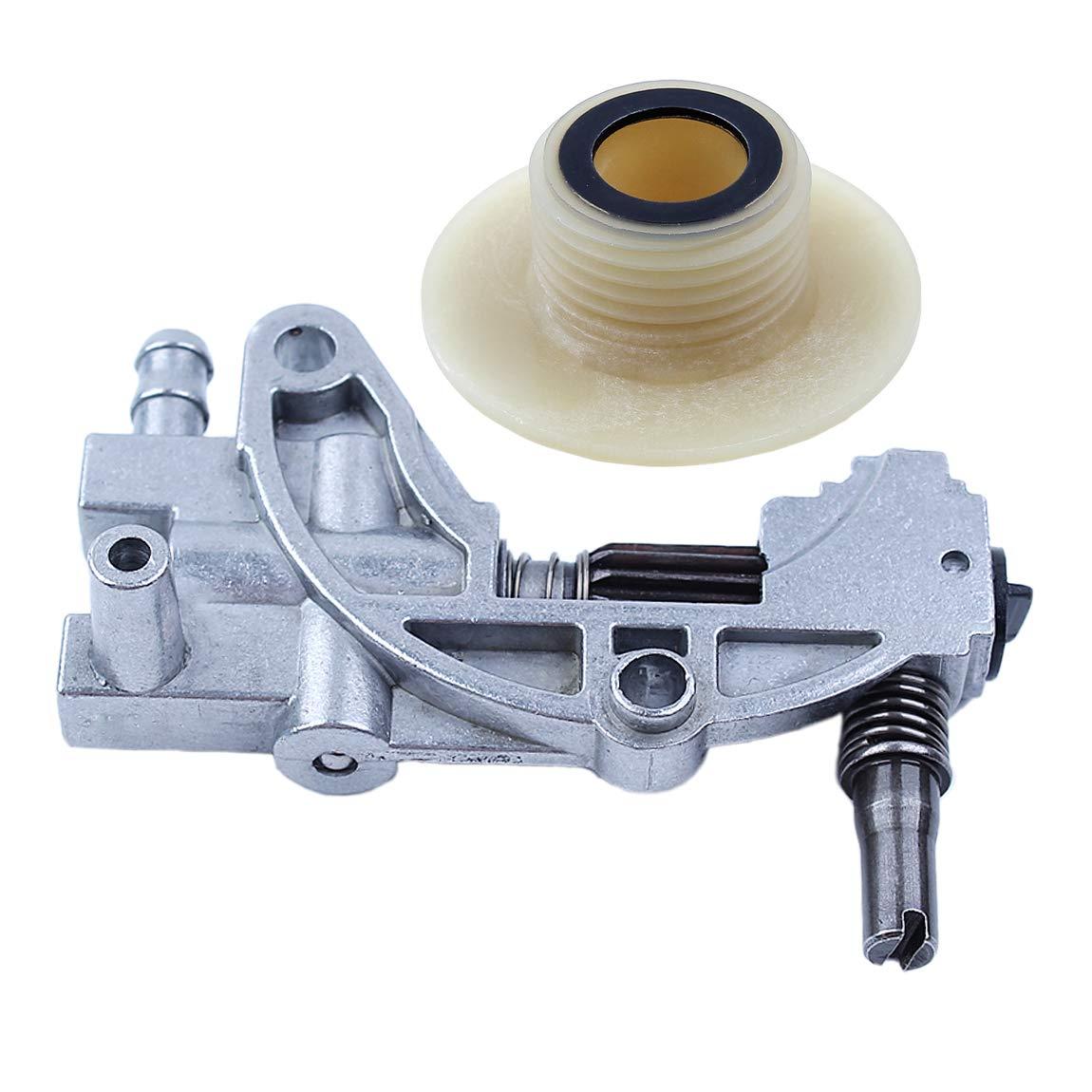 Haishine Juego de Engranajes helicoidales de Bomba de transmisi/ón de Aceite para Motosierra China 5200 4500 5800 52cc 45cc 58cc Piezas de Repuesto