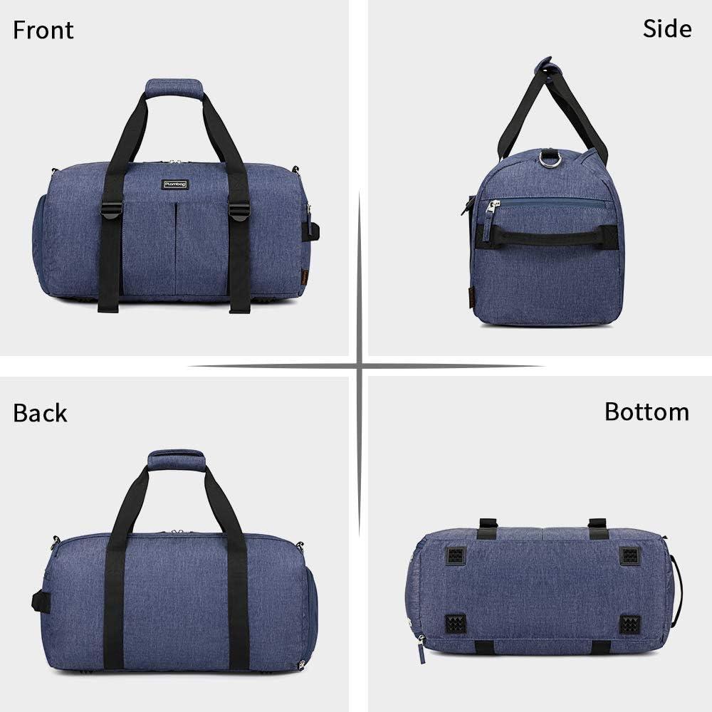 Plambag Sac de sport de 33 L sac de fitness compartiment /à chaussures sac de sport sac de voyage avec compartiment s/épar/é sec et humide sac fourre-tout pour homme et femme