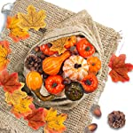 DomeStar-Halloween-Mini-Artificial-Pumpkins-and-Gourds-Maple-Leaves-Pine-Cones-Acorns