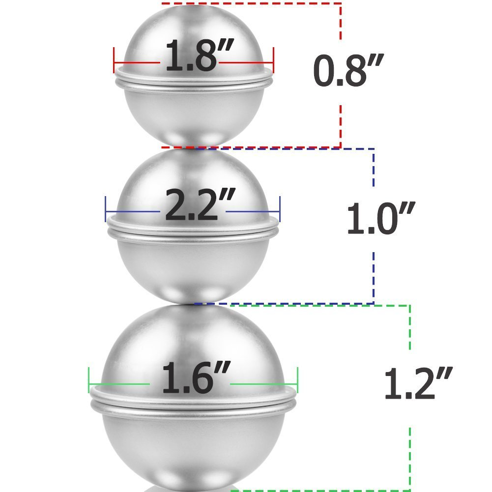 Moldes para hacer bombas de baño, 3 tamaños y 16 piezas, de ZesGood: Amazon.es: Hogar