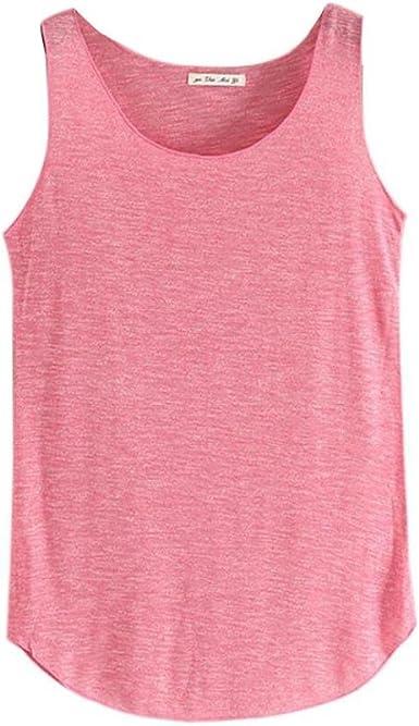 VENMO Camiseta sin Mangas Crop Tops Camiseta Tirantes Blusa tee para Mujer (Rosa Caliente): Amazon.es: Ropa y accesorios