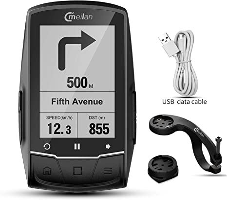 MEILAN - Ordenador para bicicleta con GPS M1, conexión Bluetooth con monitor de cadencia/HR: Amazon.es: Deportes y aire libre