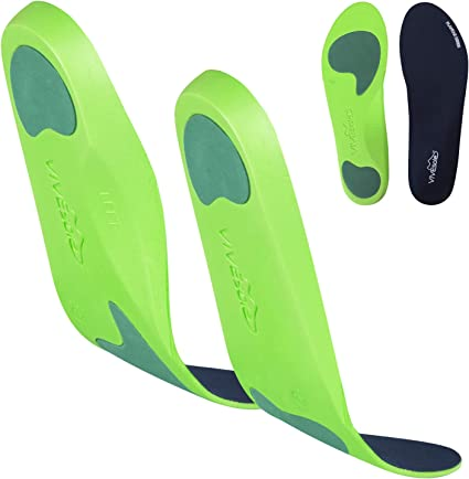 1 Pair Soft Caresole Plantar Fasciitis Insoles Foot Confort Plus Feeling Younger