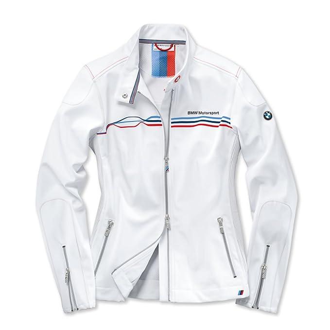 Bmw Genuine Motorsport Ladies Womens White Soft Shell Jacket Water Repellent