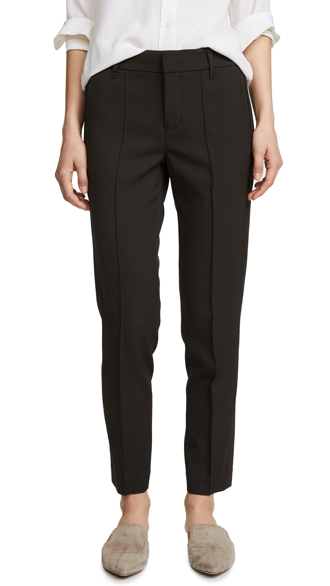 Vince Women's Stitch Front Strapping Pant, Olive, 12