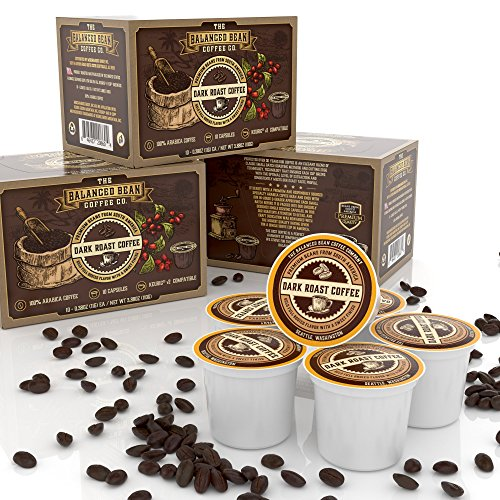 K Cup Coffee Pods - Balanced Bean Coffee Co Obscure Roast Single Serve Keurig v2 Compatible - Experience Coffee That Will Make You Stop & Embrace the Moment - Bulk 60 Swarm of Individual Fresh Roast Cups