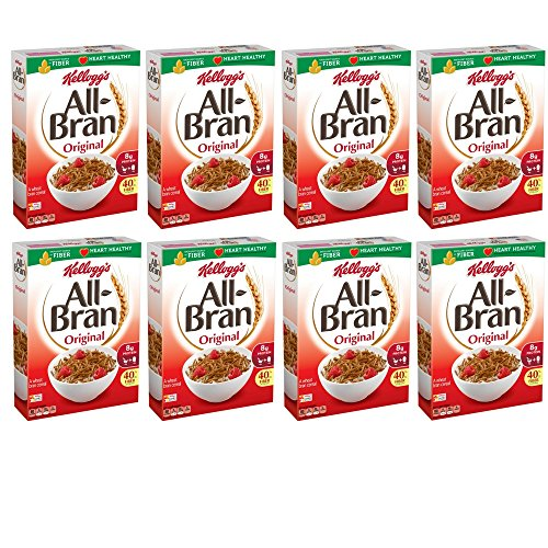All-Bran Cereal, Original, 18.3-Ounce Boxes (Pack of 8) -