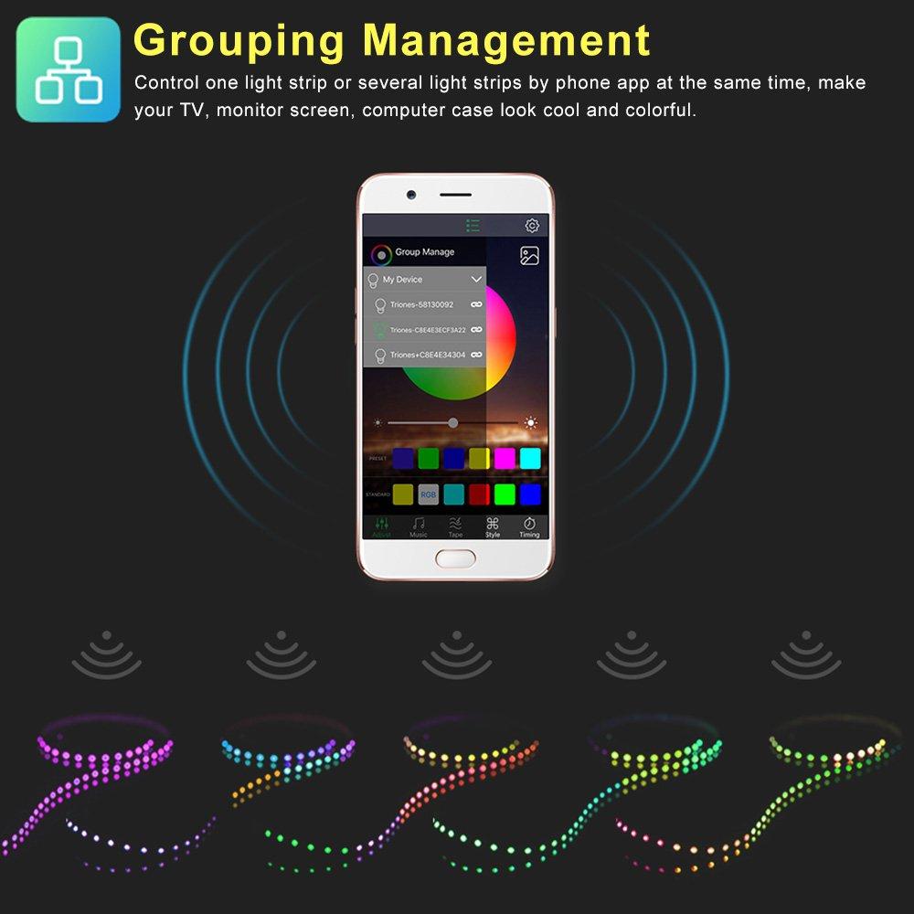 RGB controller Greenbang Controlador LED Bluetooth DC 5V para 3528 5050 RGB Tira de luz de color que cambia la tira de luz con temporizador para barra de inicio