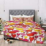 Deny Designs Zoe Wodarz Flamingo Loves Comforter Set, King