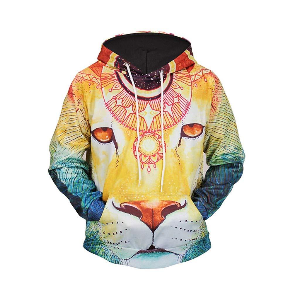ZHAOWM Kapuzenpullover Mit Kapuze Männer Frühling Herbst Winter 3D Animal Printing Sweatshirt Lässige Mode Langarm Hoodies Mantel