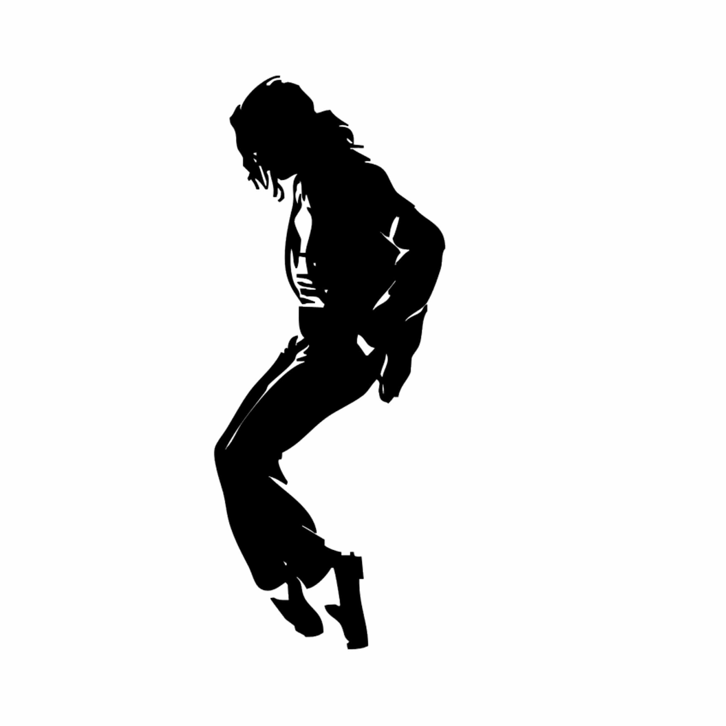 Famous Wall Sticker, Michael Jackson Moonwalk, Dance, Black - Size (7.5'' x18.9'') VINYL Sticker, Removable Wall Mural Decals, Home Decor Supplies - Perfect for Office, Home, Living Room, Bedroom, Dorm