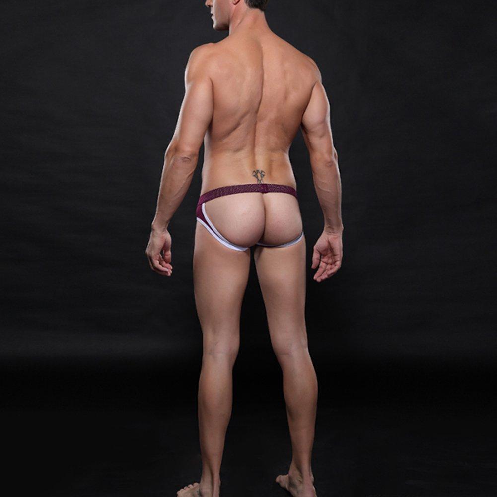 Ajetex Men Low Rise Jockstrap Size M Color Purple