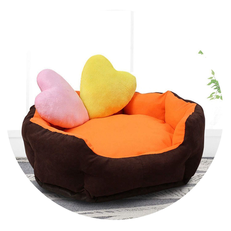 orange M orange M Soft Warm Dog Bed 7 colors 3 Sizes Waterproof Mat for Small Medium Dog Autumn Winter Pet Beds Dog House Cat Bed Cama Perro,orange,M