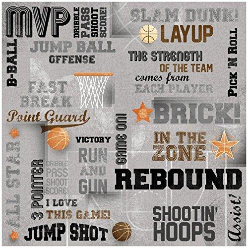 25 Sheets 12 x 12 Play Basketball Karen Foster Design Scrapbooking Paper