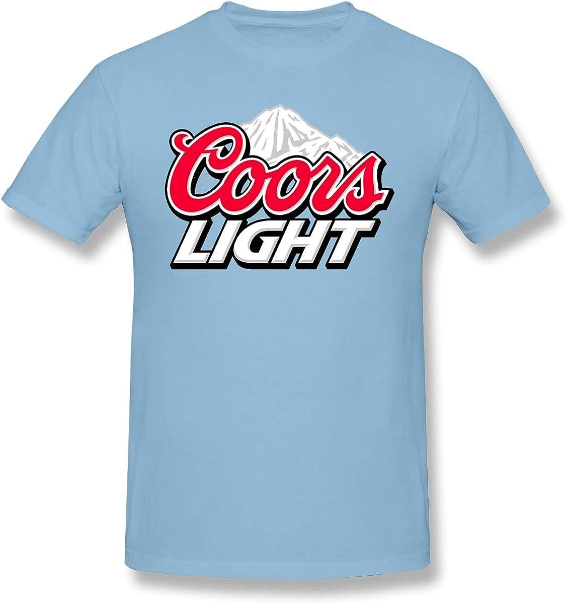 Pekivide Men Coors Light Logo Restoring Ancient Ways Gray T-Shirt