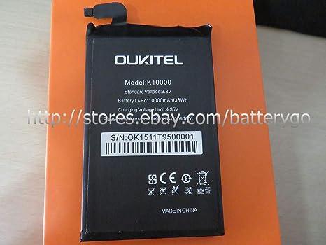 Amazon.com: FidgetFidgetc Batería de Repuesto K10000 Oukitel ...
