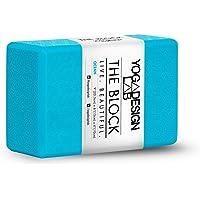 The Block by YOGA DESIGN LAB   Premium, Colorful, Eco Hot Yoga Block   Zen Printed Non Slip Grip Designed to Improve…