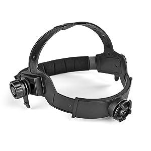 Flexzion Auto Darkening Welding Helmet Solar Powered Weld/Grind Selectable Mask Tool Vivid Black Face Protector for Arc Tig Mig Grinding Plasma Cutting with Adjustable Shade Range 9-13 (Color: Black)