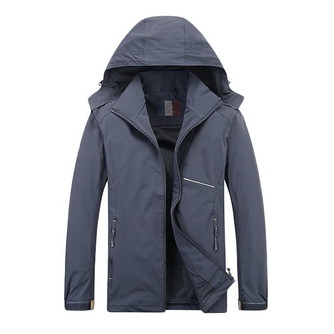 nihiug Chaqueta para Hombre Tactical Softshell Jacket Jacket Windproof Waterproof Outdoor Mountaineering: Amazon.es: Ropa y accesorios