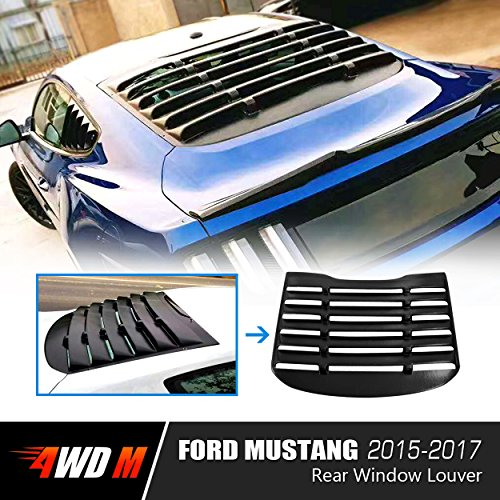 4WDMUSCLE Rear Window Louver for Ford Mustang 2015 2016 2017