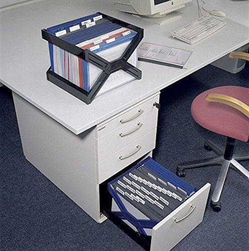 Durable 261101 Carry Plus Support de Classement pour Dossiers Suspendus Format A4 Coloris Noir Vendu /à Plat et sans Dossiers