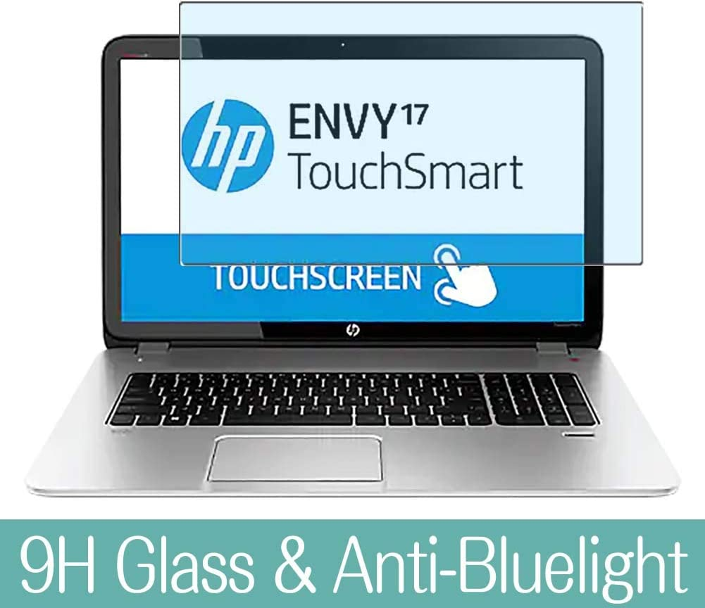 "Synvy Anti Blue Light Tempered Glass Screen Protector for HP Envy TouchSmart 17-j100/j140us/j153cl/j130us/j178nr/j141nr/j182nr/j113tx/j178ca/j173cl/j185nr 17.3"" Visible Area"