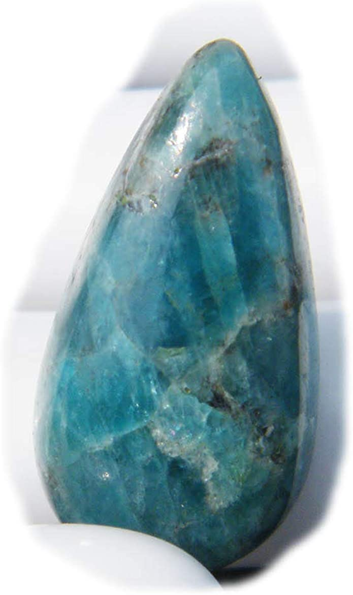 100 /% Natural Apatite Cabochon Semi Precious Handmade Polished Stone For Jewelry 63 Ct #8703 Very Beautiful Blue Apatite Loose Gemstone