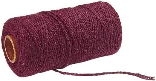 Cordón de Algodón Hilo Cuerda Encerado Joyería Cordón Cable para ...