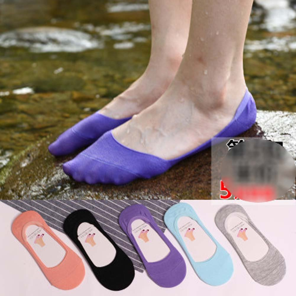 5 Pairs Stealth Comfortable Cotton Socks Thin Section Installed Ms. Summer