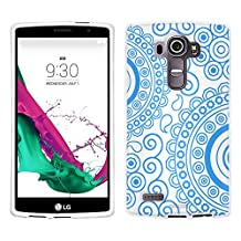 LG G4 Case, Snap On Cover by Trek Paisley Circles Blue on White Case