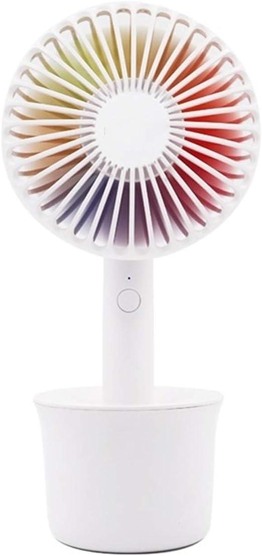 XIAOFENG-R Rainbow Color Fan Ventilador de Mesa USB Recargable de ...