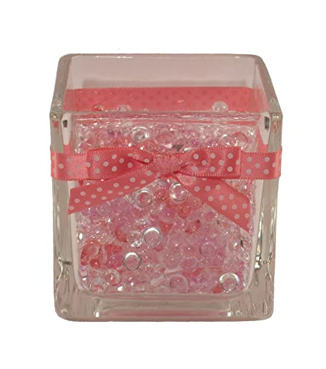 brush holder beads. icedoll glass make-up brush and pencil holder/organiser filled with multi-coloured holder beads