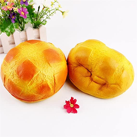 Sonnena Juguetes compresivos, Squishies Kawaii Juguetes Pan de piña Squishy Squeeze Toy Slow Rising Decompression Toys Stress Relief Juguete Suave Squeeze ...