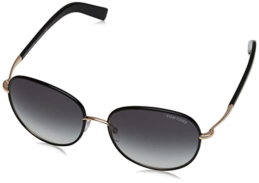 843002438572 Image Unavailable. Image not available for. Color  Tom Ford FT0498 01B  Shiny Black Georgia Round Sunglasses Lens Category 2 Size 5