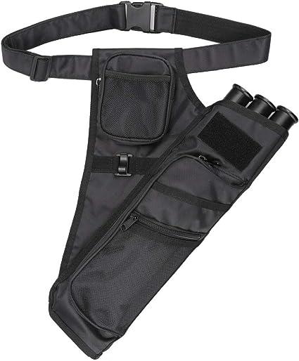 Archery 3 Tubes Hip Arrow Quiver with Adjustable Waist Belt /& Pockets Camo