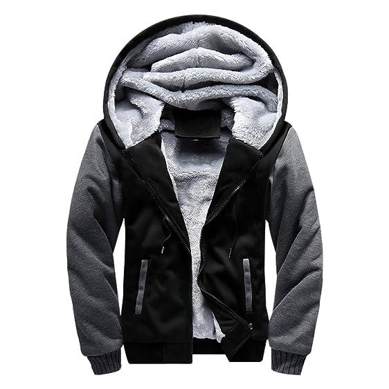 ASALI Men's Pullover Winter Jackets Hooed Fleece Hoodies ...