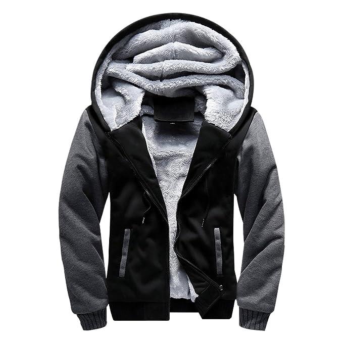 0f3a12be6 MANLUODANNI Men s Winter Black Warm Jacket Hooded Outwear Coat ...