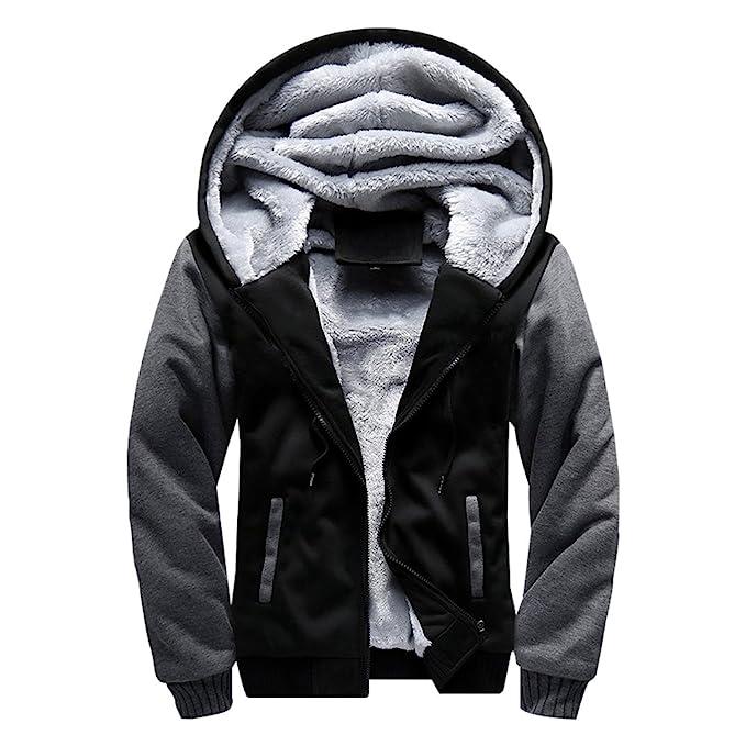 b2b2ddab073 MANLUODANNI Men s Winter Black Warm Jacket Hooded Outwear Coat ...
