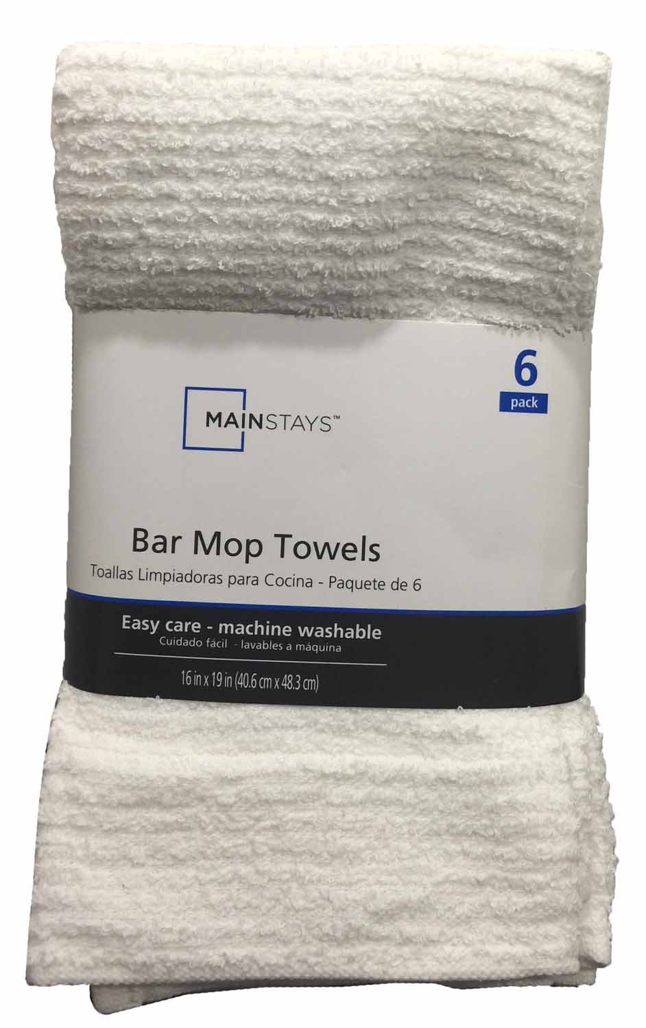 Bar Mop Towels 6-Pack White