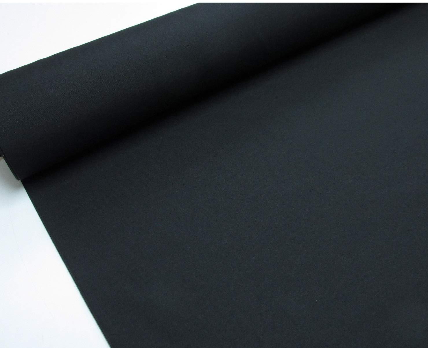 Confección Saymi - Metraje 0, 50 mts. tejido loneta lisa Nº 138 Negro con ancho 2, 80 mts.