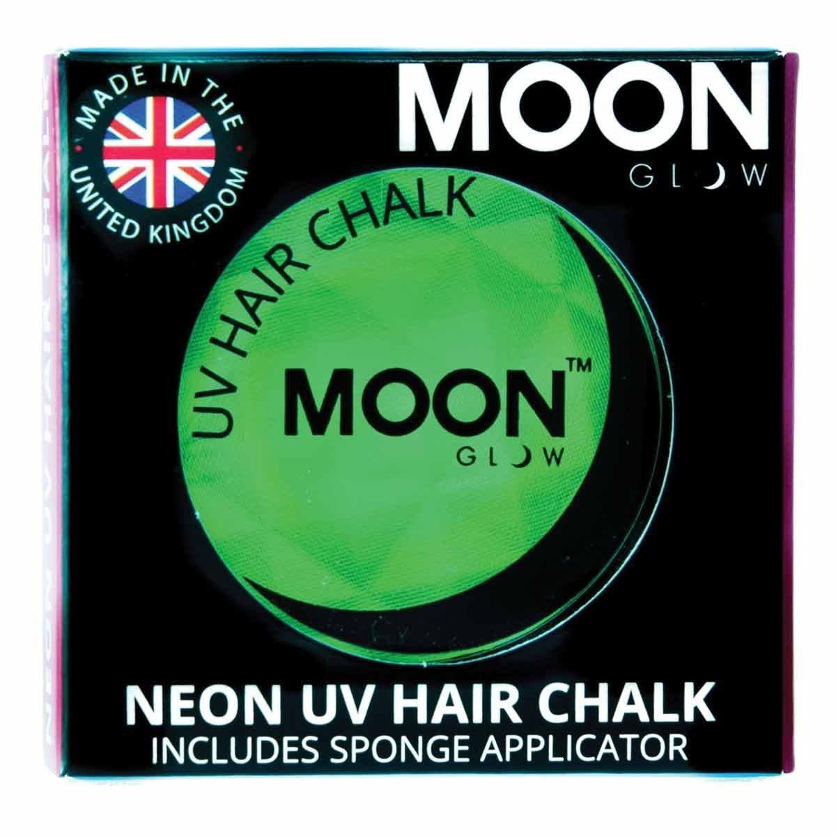 Moon Glow - Blacklight Neon Hair Chalk 0.12ozGreen– Glows brightly under Blacklights / UV Lighting!