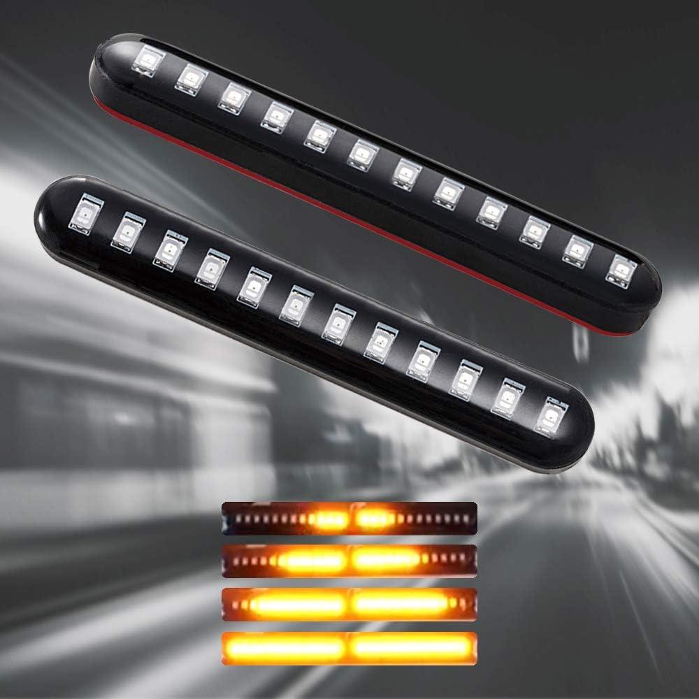 ZR-7S KLE 250 400 500 Nero + Giallo EBTOOLS Indicatori di direzione Moto Moto LED Indicatori di direzione adatti per ZXR 250//250R//400//400R//750//750R