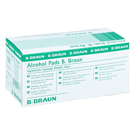 B. Braun Almohadillas con alcohol (100 unidades)