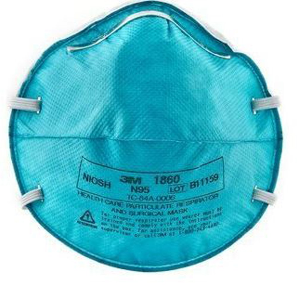 N95 Particulate Respirator / Surgical Mask 3M™ Cone Headband One Size Fits Most - 120/CS (MFN # 1860) by 3M