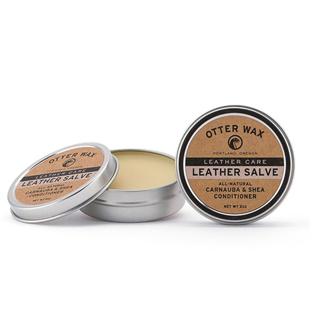 Leather Salve : All Natural Leather Conditioner by Otter Wax : 2oz Tin