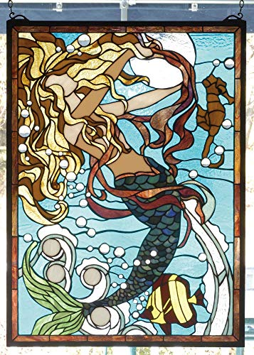 Meyda Tiffany 78086 Stained Glass Tiffany Window from The Seashore Collection ()
