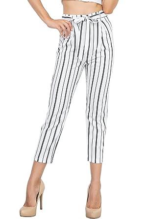 BoBoLily Femme Pantalons Pants Elégante Jeune Mode Taille Haute Automne  Printemps Spécial Style Pantalon De Loisirs 8e0fff6b9b2