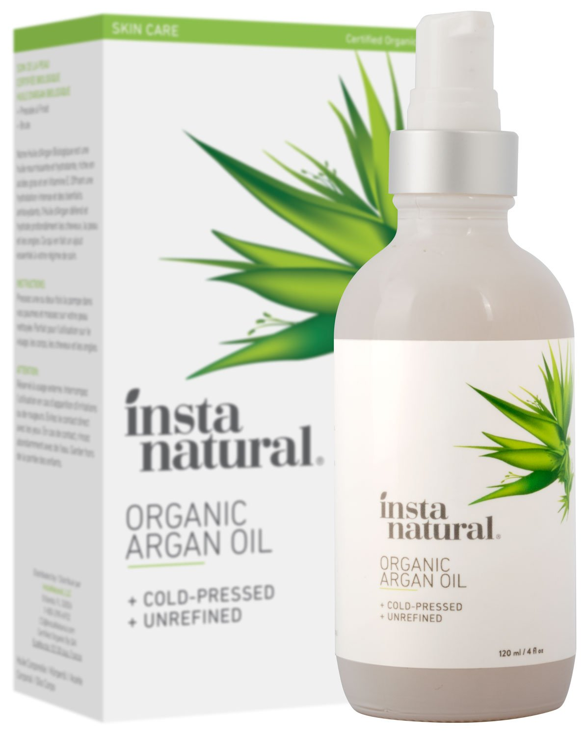 InstaNatural Olio di Argan biologico, 120 ml INS010901000118
